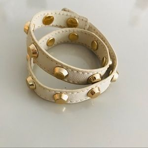 Michael Kira wrap around gold tone stud bracelet